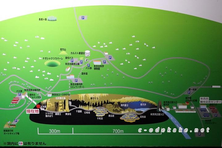 秋芳洞イラストマップ