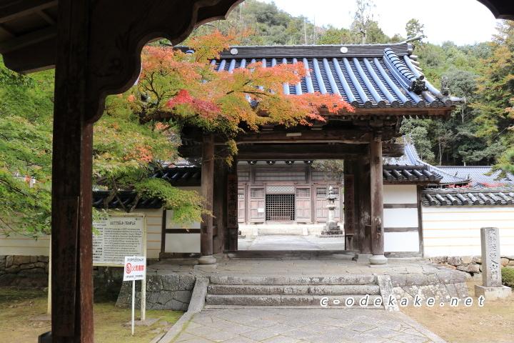 紅葉の佛通寺の総門