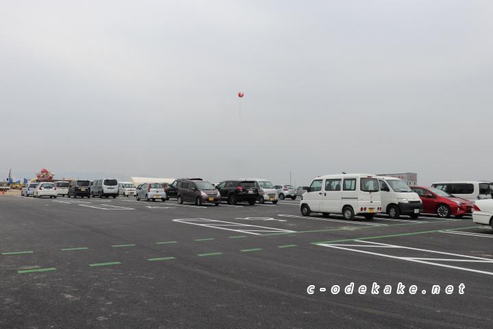笠岡ベイファームの駐車場