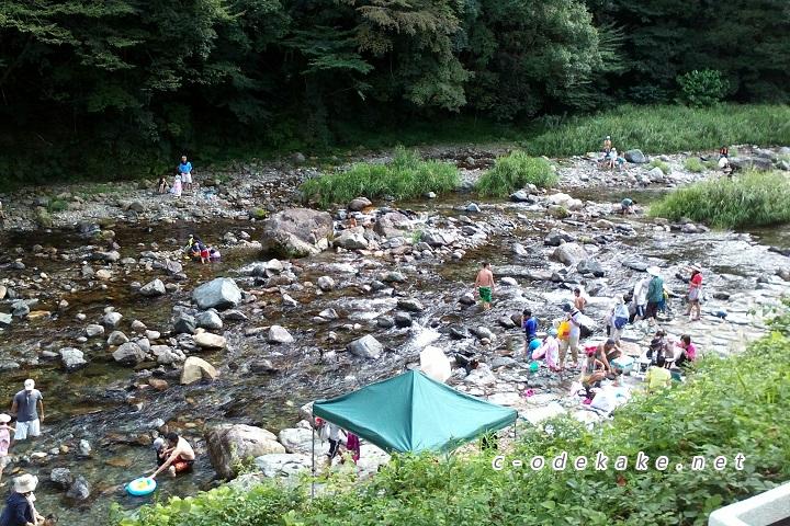 湯来温泉裏の川遊びスポット