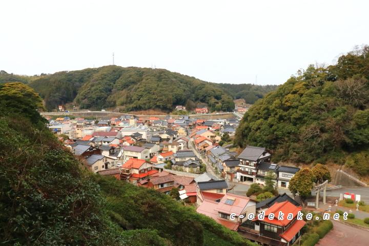 三隅市街の眺め
