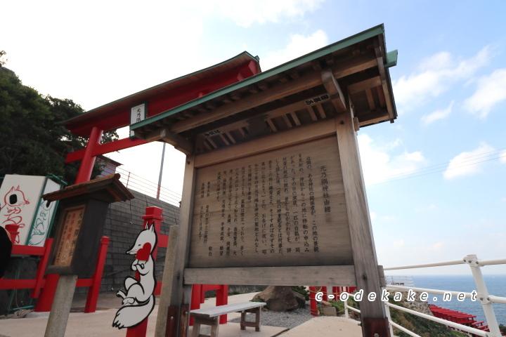 元乃隅神社第1駐車場の入り口の鳥居