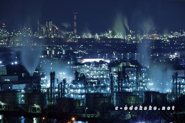 SFのような大竹工場夜景