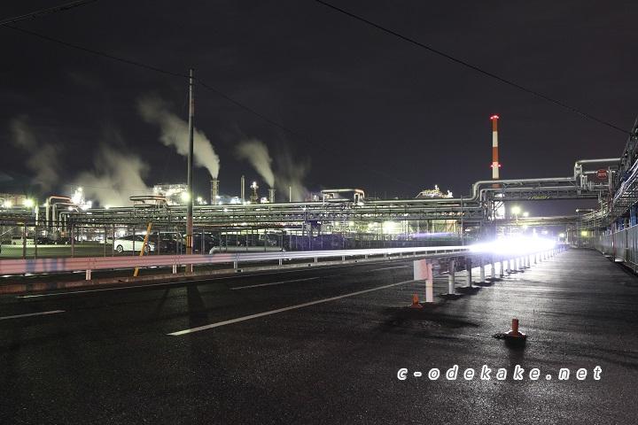 大竹工場群の公道